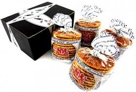Verweij 100% Roomboter Siroopwafels (Butter Stroopwafels), 10.6 oz Packages in a BlackTie Box (Pack of 4)