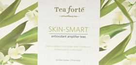 Tea Forte Skin Smart Ribbon Box – Contains Twenty Silken Pyramid Infusers
