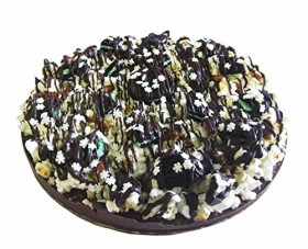 Chocolate Candy Gift NomNom Delights Double Mint Oreo Cookie Chocolate Lovers Popcorn Pizza – Unique Gourmet Gift Kosher Certified