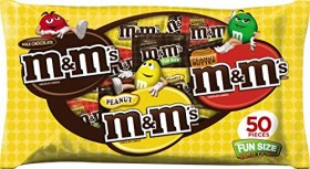 M&M's Fun Size Chocolate Candy Variety Mix, 50 Pieces 27.4 Ounce