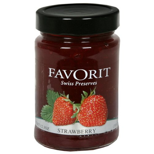 Favorit Swiss Preserves Strawberry, 12.3 Ounces (Pack of 12)
