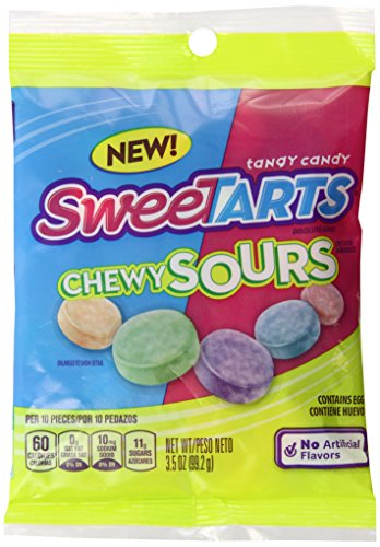 SweeTARTS Chewy Sours Peg Bag, 3.5 Ounce (Pack of 12)