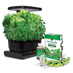 Miracle-Gro AeroGarden Harvest with Gourmet Herb Seed Pod Kit, Black