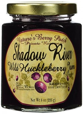 Shadow River Wild Huckleberry Gourmet Jam 8 oz Jar