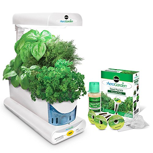 Miracle-Gro AeroGarden Sprout with Gourmet Herb Seed Pod Kit, White