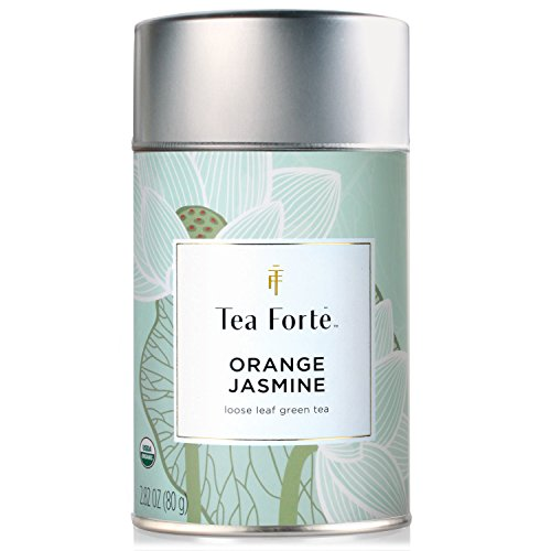 Tea Forte ORANGE JASMIN Organic Loose Leaf Green Tea, 3.5 Ounce Tea Tin