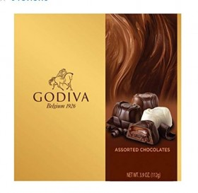 Godiva Assorted Chocolates, 3.9 Ounce