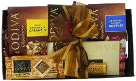 Wine.com Godiva Connoisseur Chocolate Gift Basket