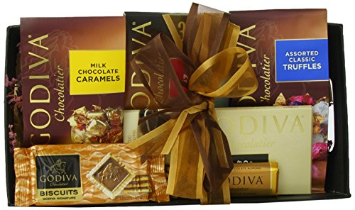 Wine.com Godiva Connoisseur Chocolate Gift Basket