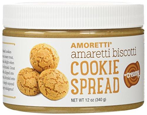 Amoretti Natural Creamy Amaretti Biscotti Cookie Butter Spread, 12 Ounce