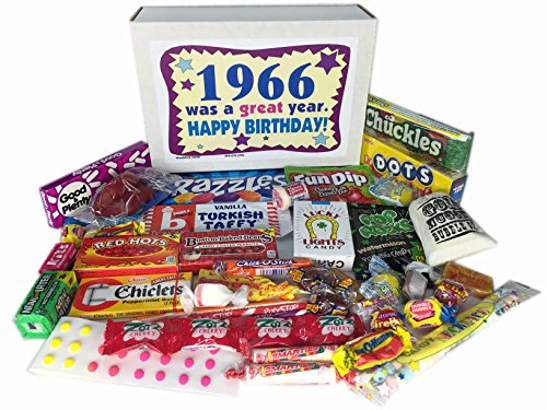 50th Birthday Gift Basket Box Jr 1966 Retro Nostalgic Candy 60s Decade
