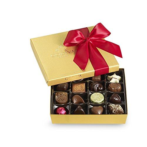 Godiva Chocolatier Red Ribbon Ballotin Valentines Chocolate Gift, 19 Count