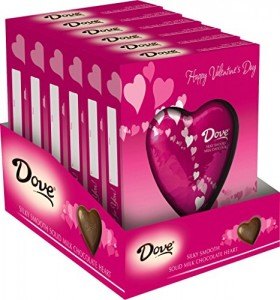 Dove Valentine's Milk Chocolate Solid Heart, 4.5 Ounce (Pack of 6)