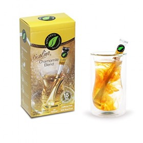 Serengeti Tea 2 Piece Chamomile Blend Tea Box and Double Wall Cup Set