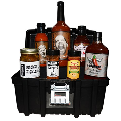 Just Enough Heat BBQ Tool Box Gift Basket