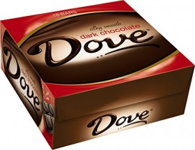 Dove Dark Chocolate Candy Bar, Singles (18 Count)