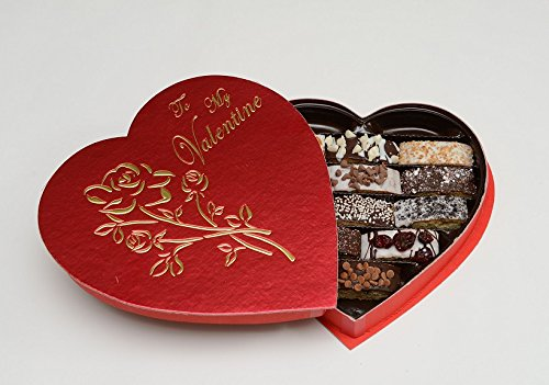 Valentines Day Heart Biscotti Gift Box