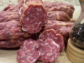 Sweet Soppresata Dry Cured Italian Salami: 14-18 oz. Stick