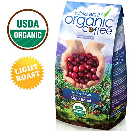 2LB Cafe Don Pablo Subtle Earth Organic Gourmet Coffee – Light Roast – Whole Bean, 2 Pound