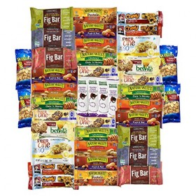 Healthy Bars & Snacks Variety Pack Bulk Sampler (40 Count)