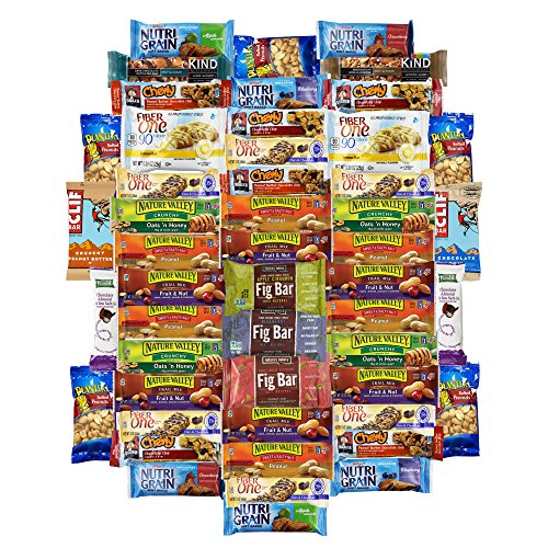 Healthy Bars & Snacks Super Variety Pack Bulk Sampler (50 Count)