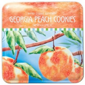 Georgia Peach Cookies Tin from Byrd Cookie Company