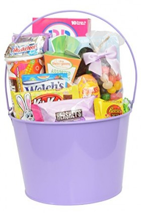 Fully Assembled Gourmet Easter Gift Basket Including Candy – Chocolate – Fillers – Easter Grass & More!
