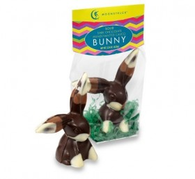Moonstruck Chocolate Solid Dark Chocolate Calico Bunny