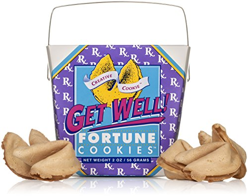 Get Well – Get Better Soon Gift – Fortune Cookies In A Gift Box – 8 Pieces Traditional Vanilla Flavor Individually Wrapped – Kosher Certified