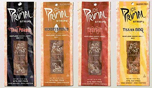 Primal Strips Meatless Vegan Jerky- Signature Sampler; 3 Each
