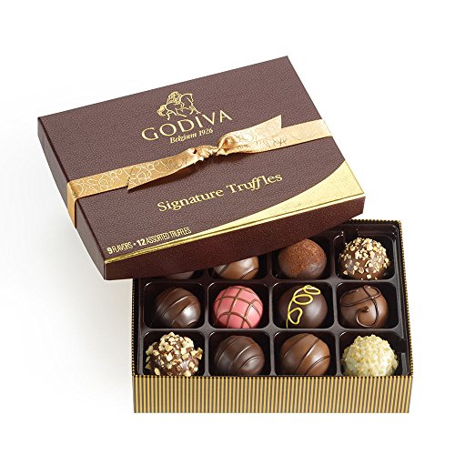 Godiva Chocolatier Signature Chocolate Truffles 12 Piece Gift Set