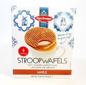 DAELMANS JUMBO STROOPWAFELS 10.9 oz CUBE BOX – MAPLE