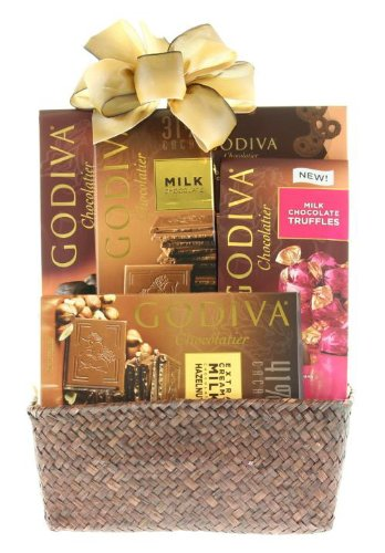 Wine.com Godiva Sampler Chocolate Gift Basket
