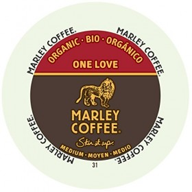 Marley Coffee, One Love, 100% Organic Ethiopia Yirgacheffe, Medium Roast, 24 Single Serve RealCups