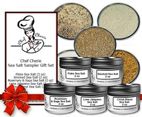 Chef Cherie's Sea Salt Sampler Gift Set – Contains 5 2 oz. Tins