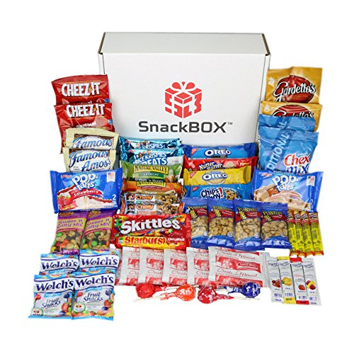 Care Package for College Students, Military, Birthday, or Back to School (50 Count) From Snack Box …