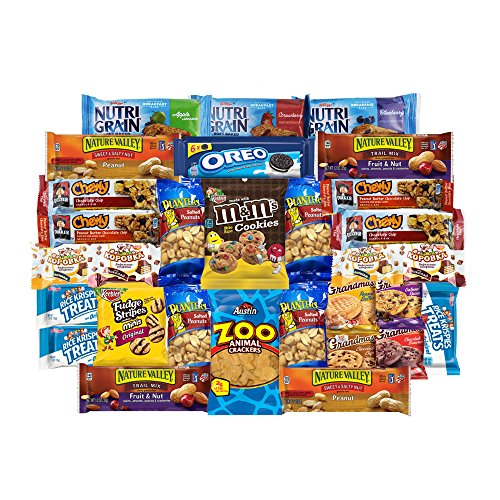 Yummy Snacks Care Package Includes Cookies, Candy & Bars Assortment (30 Count)