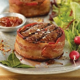 Omaha Steaks 6 (5 oz.) Bacon-Wrapped Top Sirloins