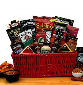 Premium BBQ Gift – Jim Beam & Jack Daniels Gourmet Grilling Gift Basket -Great Holiday, Birthday, or Father's Day Gift Idea
