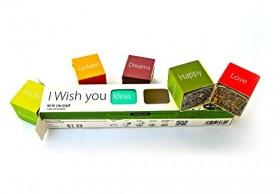 I WISH YOU Tea Gift Set – Make Own Unique Custom Wish! – Loose Leaf Teas Gift Box (6 Teas I WISH YOU Tea Gift Set)