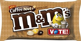 M&M'S Coffee Nut Peanut Chocolate Candy 10.2-Ounce Bag
