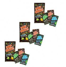 Pop Rocks Popping Candy 3-Pack – Watermelon, Strawperry Tropical Punch (9 Paks Total)