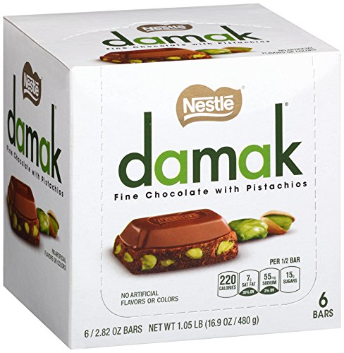 Nestle Damak Fine Chocolate with Pistachios, 2.82 Ounce (Pack of 6)