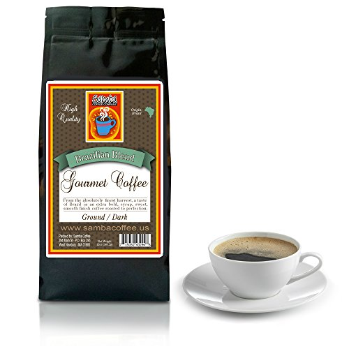 Samba Coffee & Co. BRAZILIAN BLEND GOURMET COFFEE 12oz Ground. From the absolutely finest harvest, a taste of Brazil in an extra bold, syrup, sweet, smooth finish coffee roasted to perfection.