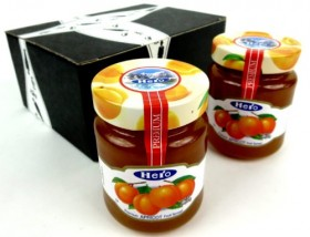 Hero Premium Apricot Fruit Spread, 12 oz Jars in a Gift Box (Pack of 2)