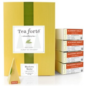 Tea Forte Event Box – 48 Silken Pyramid Infusers – Blueberry Merlot