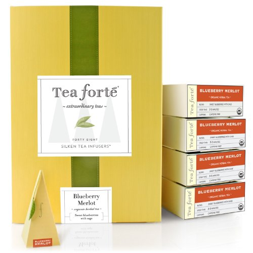 Tea Forte Event Box – 48 Silken Pyramid Infusers – Blueberry Merlot