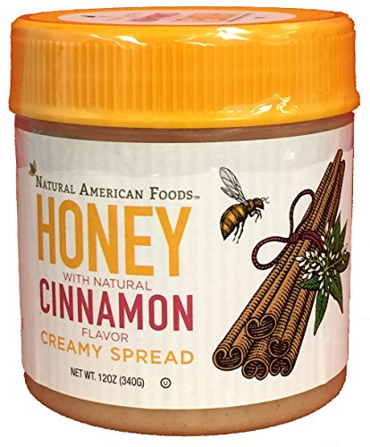 Natural American Foods Honey Creamy Spread, Cinnamon, 12 Ounce