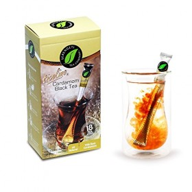 Serengeti Tea 2 Piece Cardamom Black Tea Box and Double Wall Cup Set