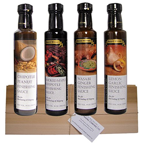 Gourmet Finishing Sauce Gift Set with Free Cedar Grilling Plank